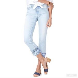 NYDJ Sherri Ankle Cropped Jeans with Print - 6P